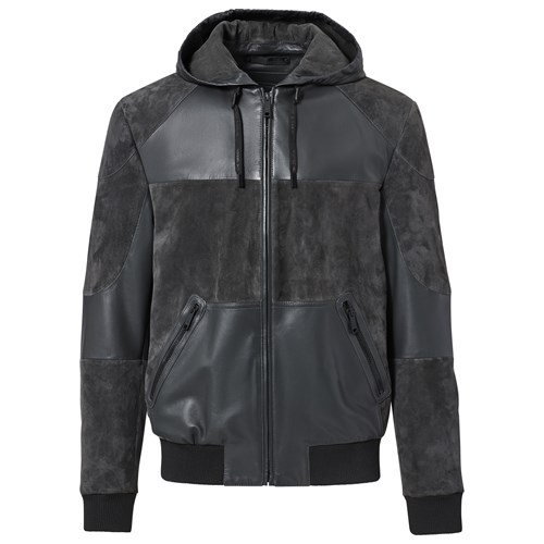 Hooded Leather Blouson