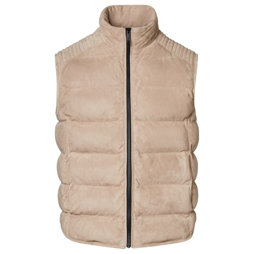 Padded Goat Suede Vest